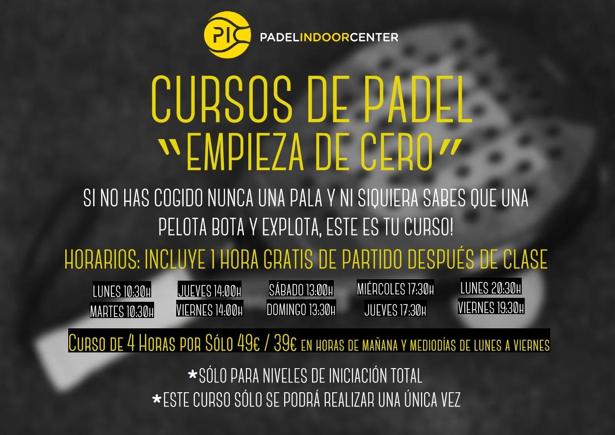 """CURSOS DE PADEL """"EMPIEZA DE CERO"""". EL PUNTO DE PARTIDA Y NO DE PARTIDO."""