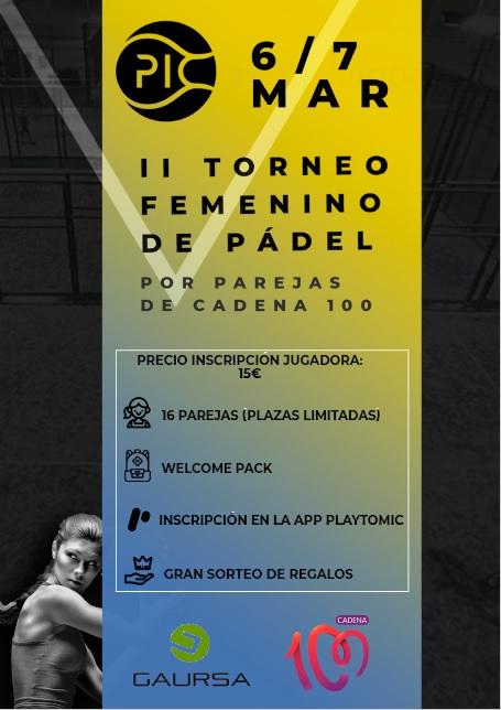 II TORNEO FEMENINO PÁDEL GAURSA RENAULT-DACIA-NISSAN CADENA 100