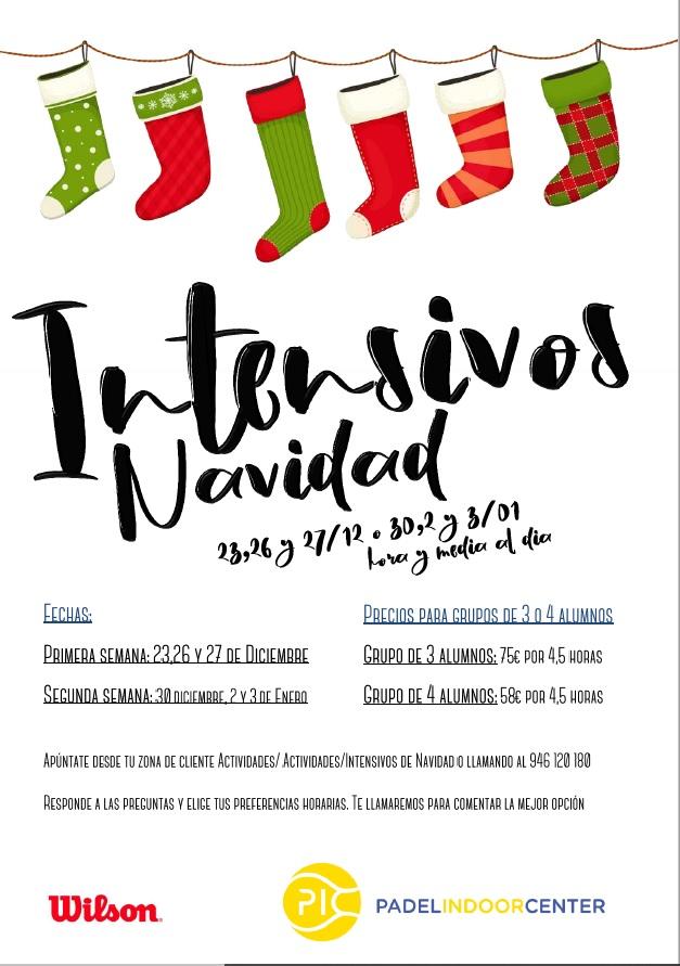 INTENSIVOS DE PADEL PIC NAVIDADES 2019